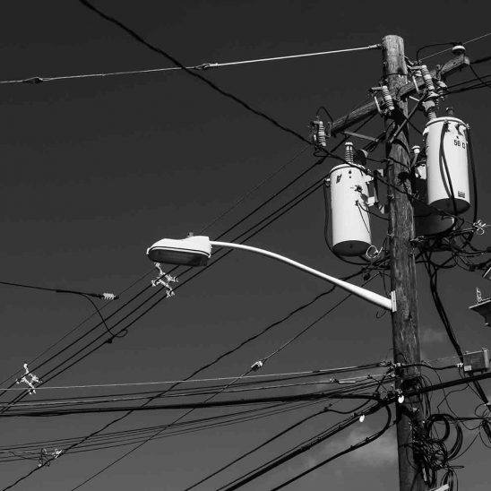 Free stock photo Low angle view of street light on electricity pylon
