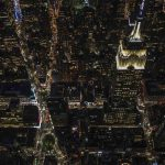Free stock photo Aerial view of illuminated empire state building in city