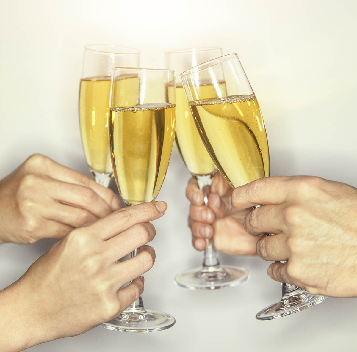 Free stock photo Group of people toasting with champagne
