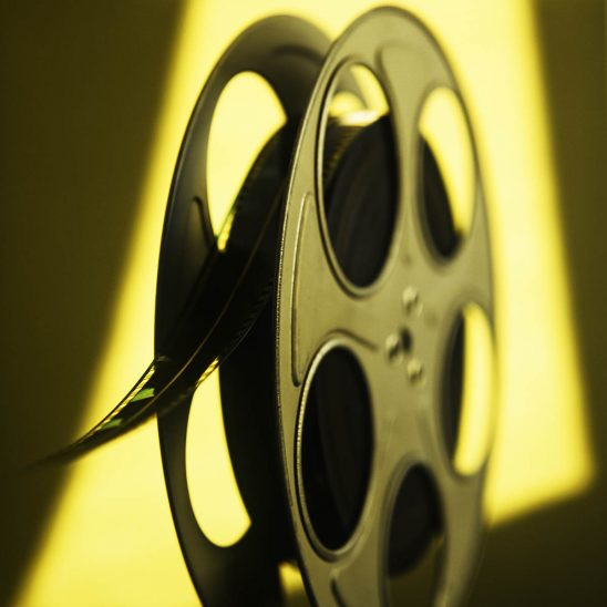 Free stock photo Cinema reel with movie film