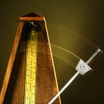 Free stock photo Metronome keeping time with a swinging arm