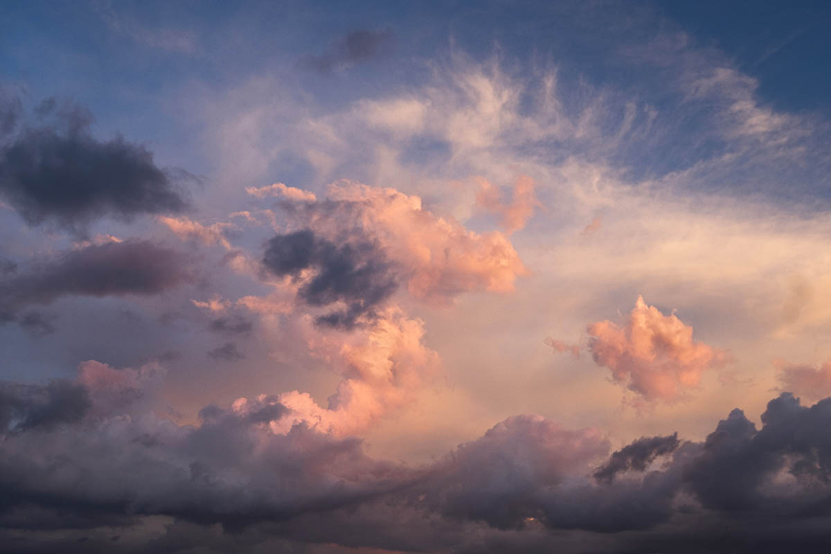 Free stock photo Dramatic sunset cloud formation