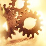 Free stock photo Rusty gears meshing together