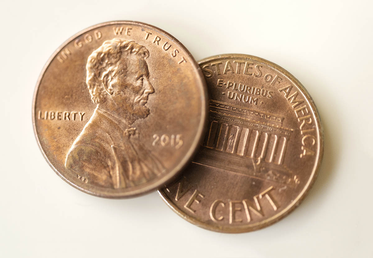 Free stock photo Two American copper cent coins
