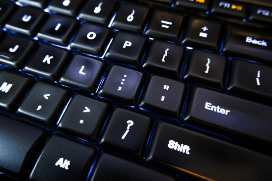 Free stock photo Close up of computer keyboard and Enter key