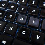 Free stock photo Close up of keys on a black computer keyboard