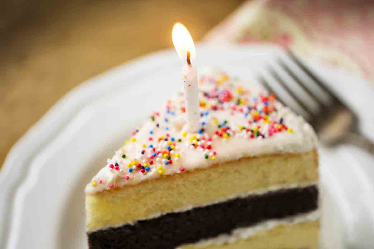Free stock photo Close-up of candle on birthday cake