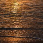Free stock photo High angle view of sea water during sunset