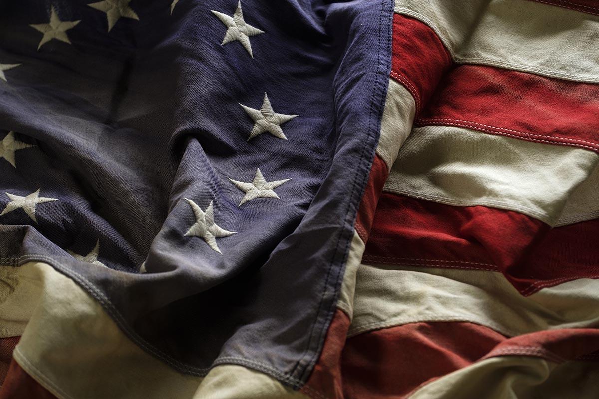 Free stock photo American Revolution flag with thirteen stars