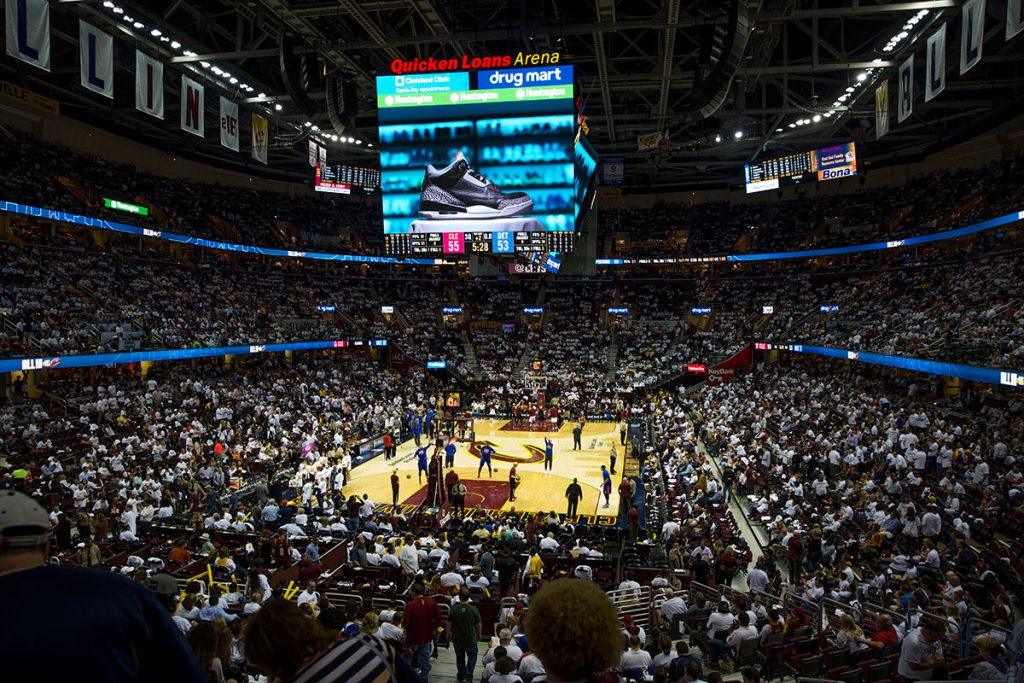 StockX Video on the Humongotron at Quicken Loans Arena During a Cleveland Cavs Playoff Game