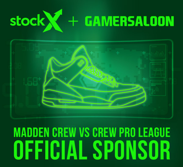 StockX Partners With GamerSaloon for Madden Crew v Crew Pro League