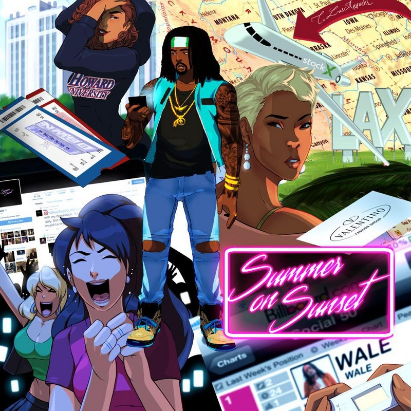 Wale Summer on Sunset Mixtape Cover