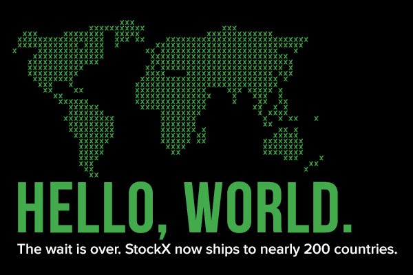 StockX Now Ships to Nearly 200 Countries
