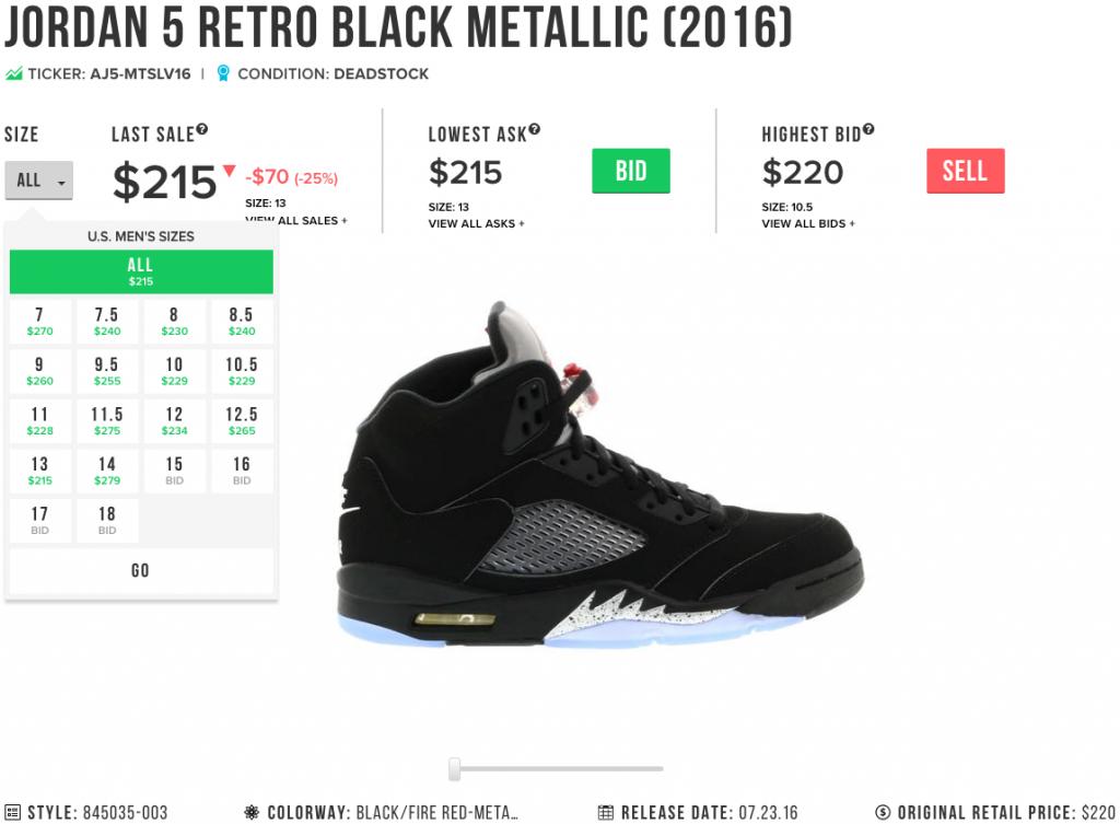 Jordan 5 Black Metallic Nike Air
