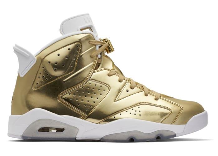 hot sale online 84293 8bfcb Metallic Gold Air Jordan 6 Pinnacle ...