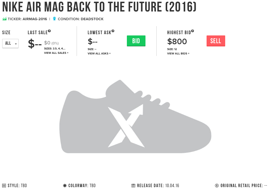 Nike MAG 2016 Release