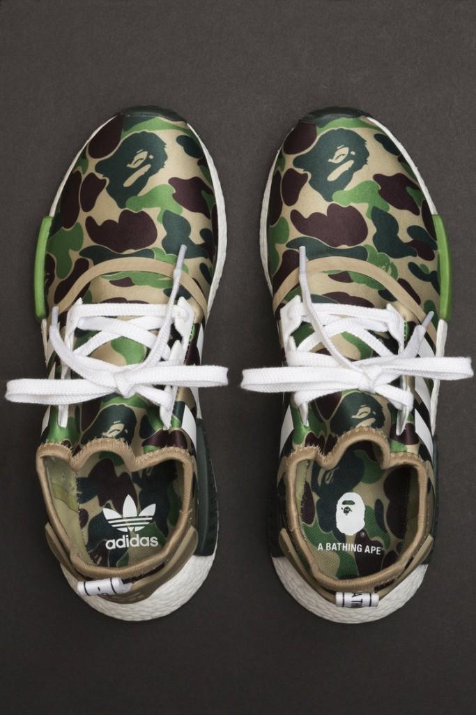 bfe4a66f3726 A Bathing Ape x adidas NMD Olive Green