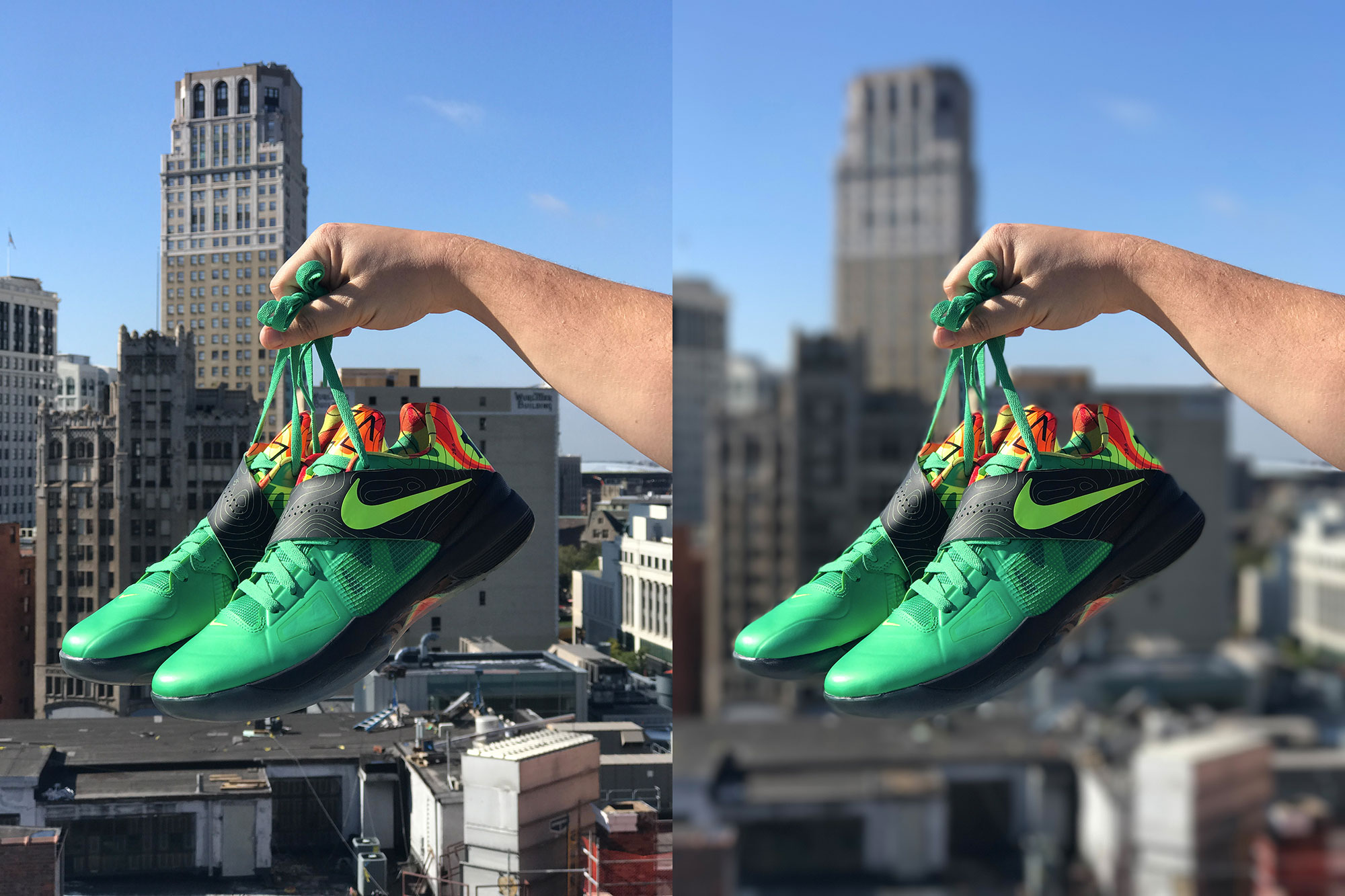 Nike KD 4 Weatherman - iPhone 7 Plus Bokeh Depth Effect Review