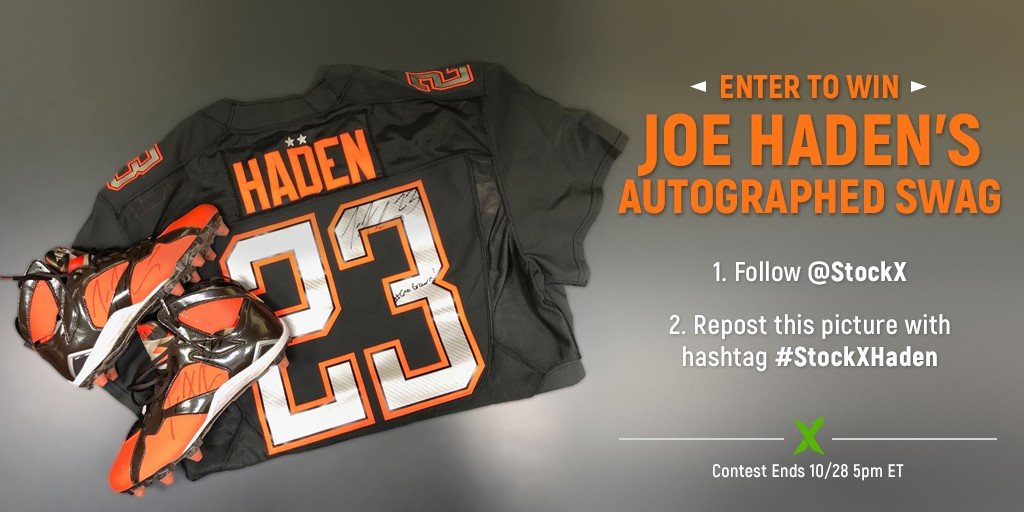 the best attitude 3f420 76e31 Win Joe Haden's Signed Retro 7 Cleats + Pro Bowl Jersey ...