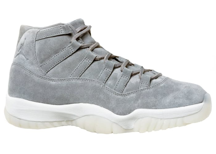 Air Jordan 11 Retro Pinnacle Grey Suede