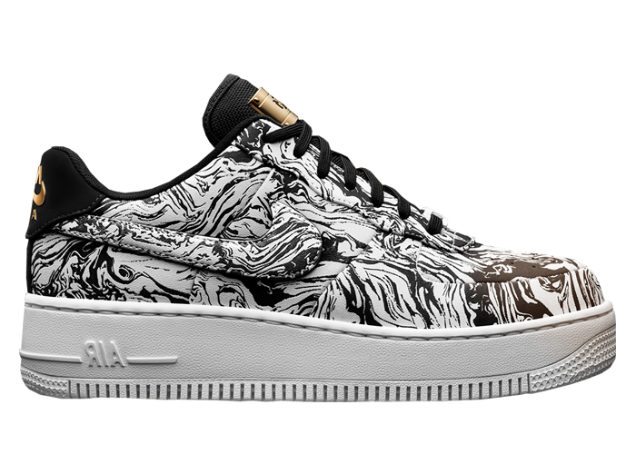 Nike Air Force 1 Upstep Low BHM Women s Colorway  White Black-Metallic Gold  Style  920788-100. Release Date  02.16.17 83b9c8b5c
