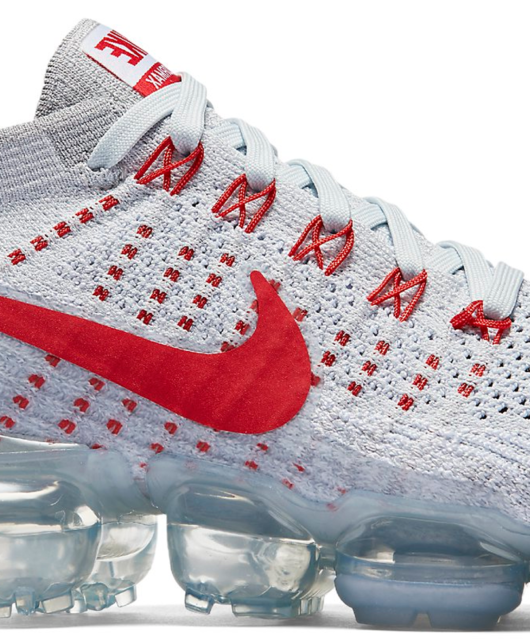 Nike Air VaporMax Women's Pure Platinum University Red