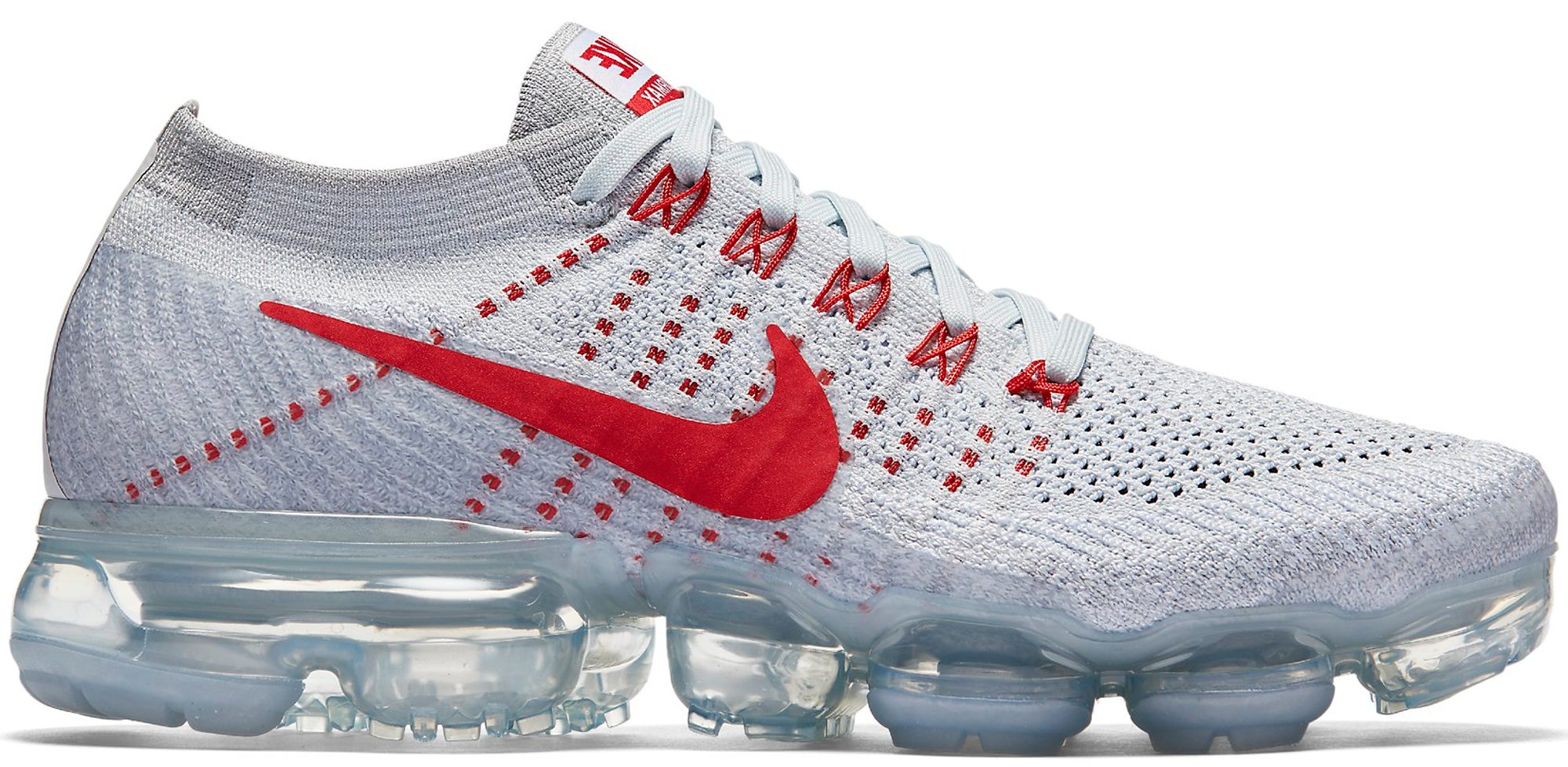 Nike Air VaporMax Women s Pure Platinum University Red - StockX News e83a635e8a