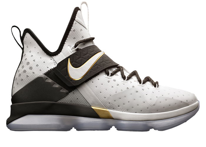 Nike LeBron 14 BHM Colorway  Black White-Metallic Gold Style  860634-001.  Release Date  02.16.17 91c279a86