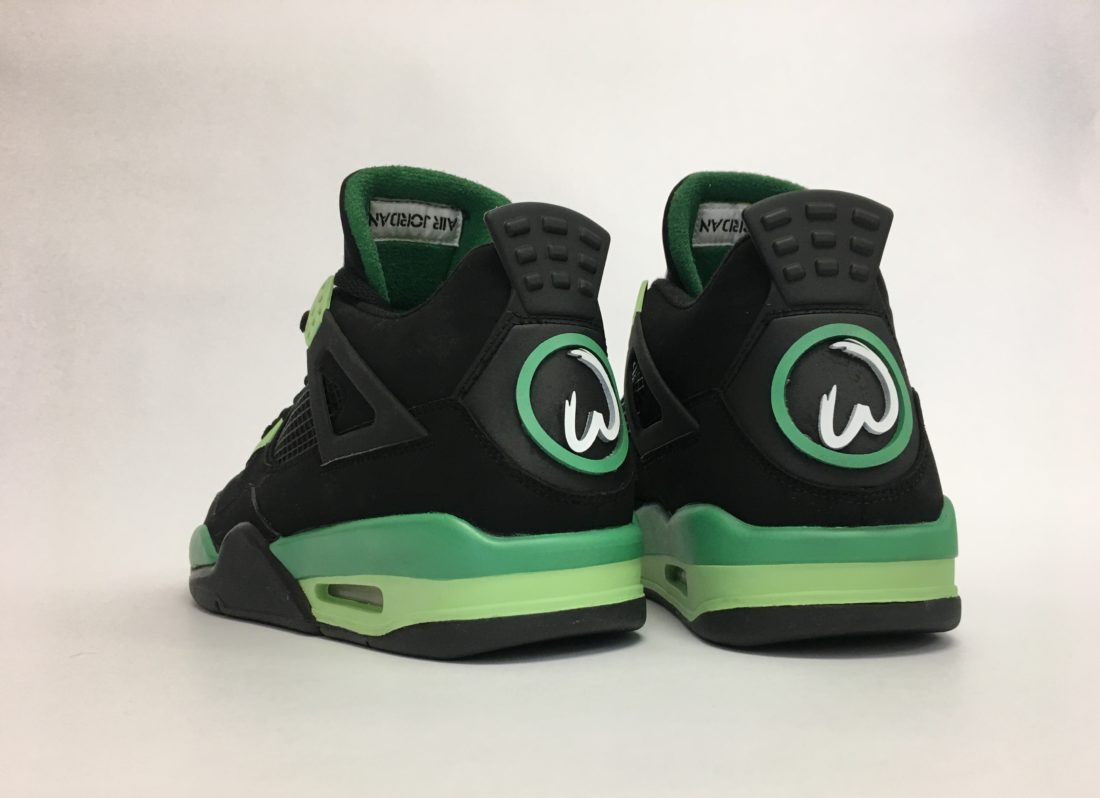 "Air Jordan 4 ""Wahlburgers"" 1 of 1 for Mark Wahlberg"