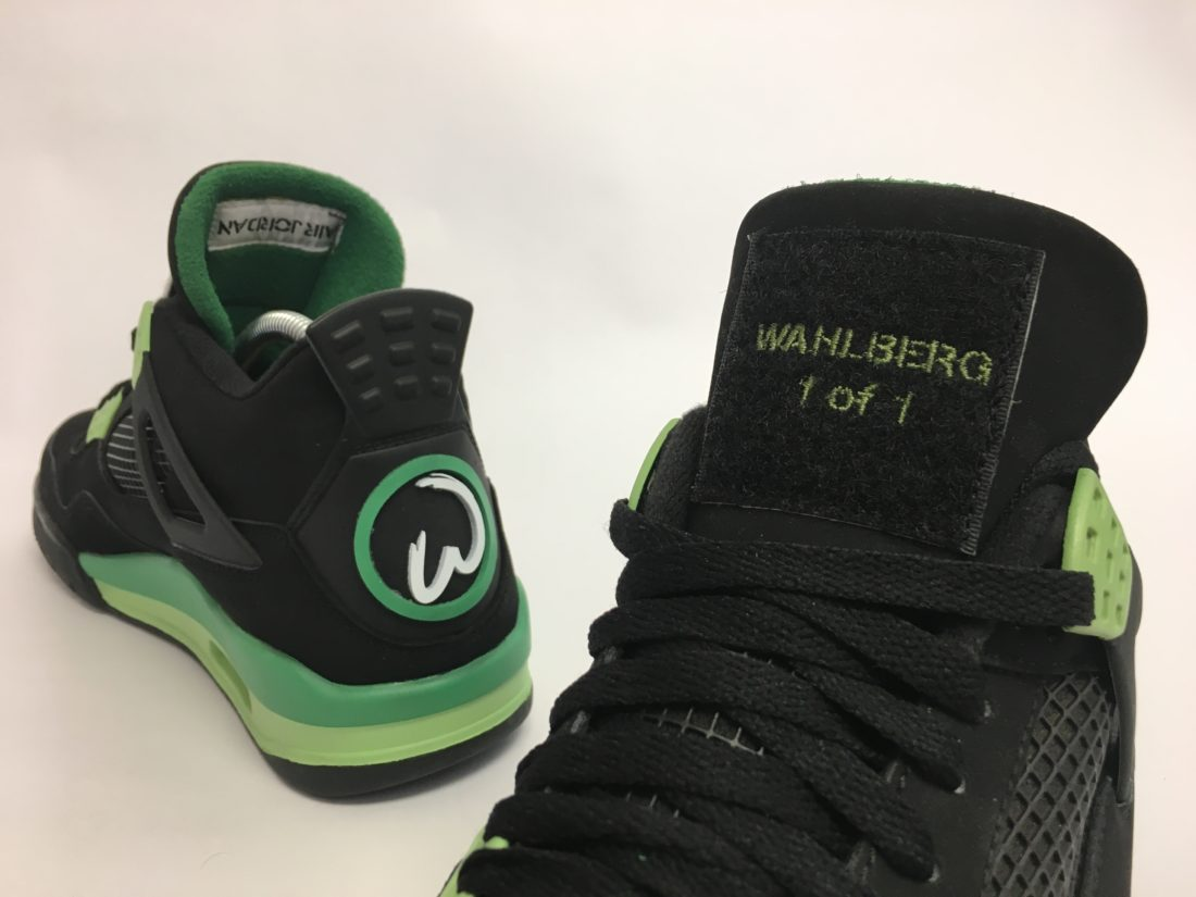 "Air Jordan 4 ""Wahlburgers"" 1 of 1 for Mark Wahlberg by Mache"