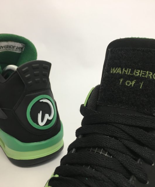 "Air Jordan 4 ""Wahlburgers"" 1 of 1 for Mark Wahlberg by Mache"
