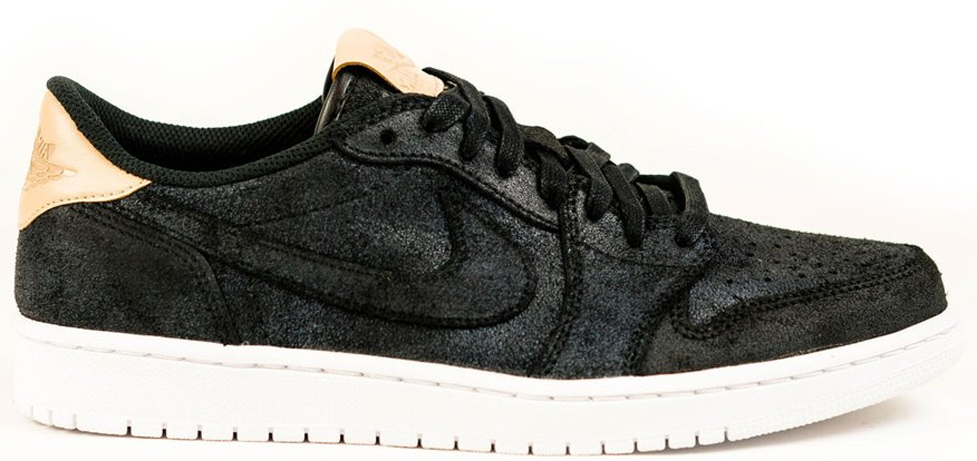 fee3f6a4842cb5 Air Jordan 1 Retro Low OG Premium Black Vachetta Tan White