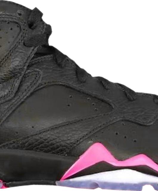 Girls Air Jordan 7 Retro GG Black Hyper Pink GS
