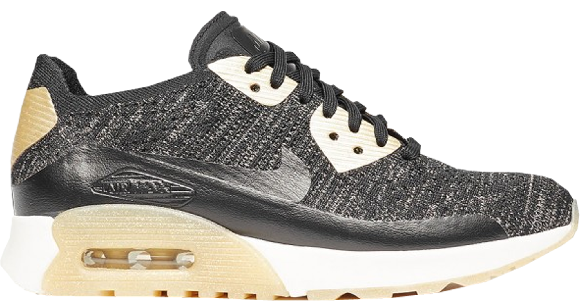 Nike Air Max 90 Premium Black Metallic Gold Releasing On