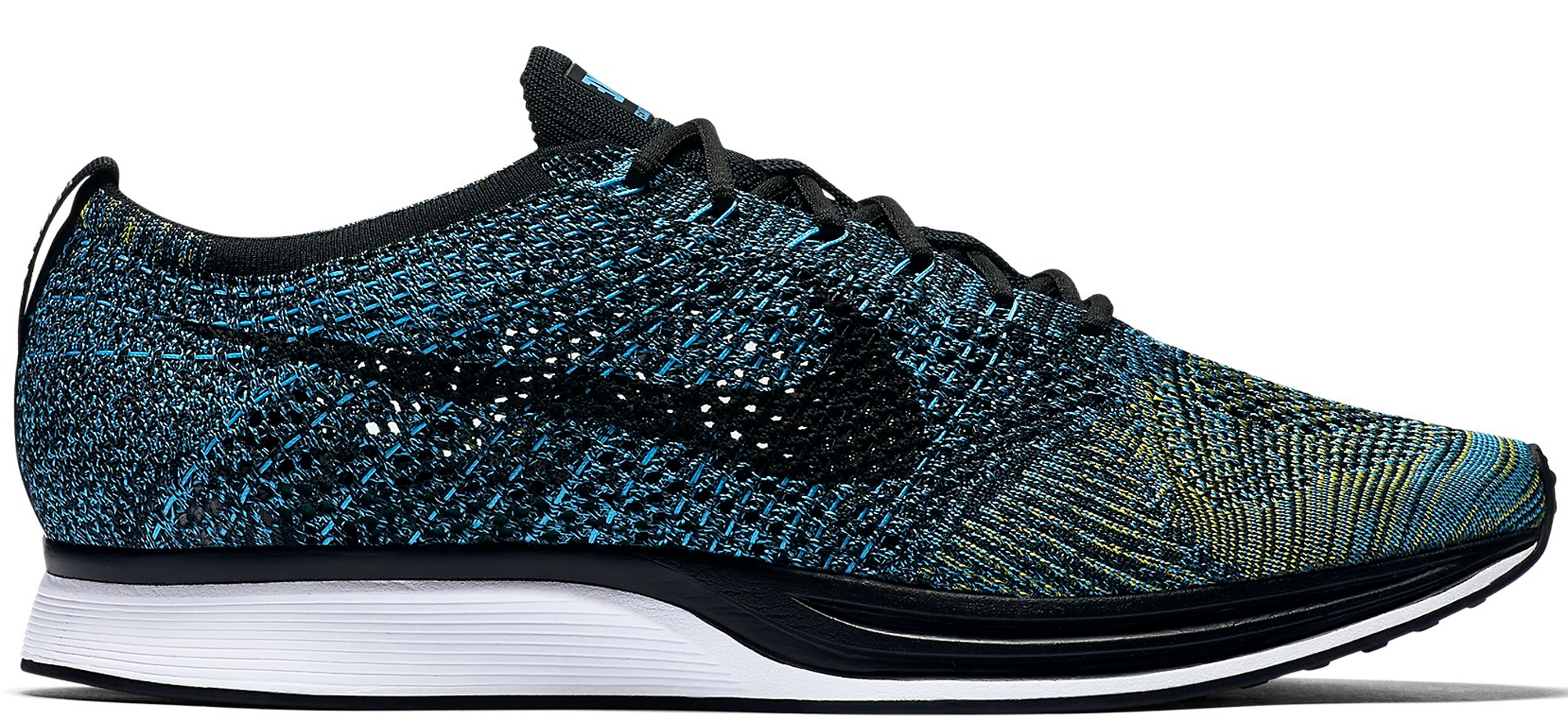 Nike Flyknit Racer 526628405 Blue Glow Yellow Strike Black 276221