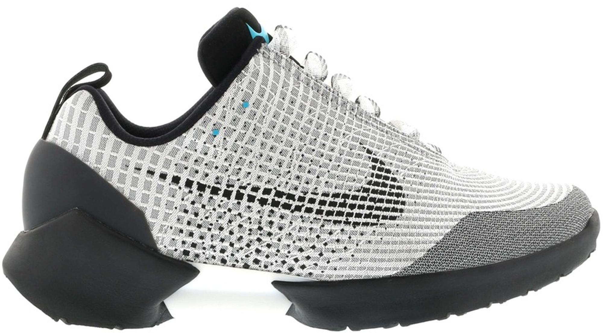 Nike HyperAdapt 1.0 Metallic Silver Sneakers (Metallic Silver/White-Black)