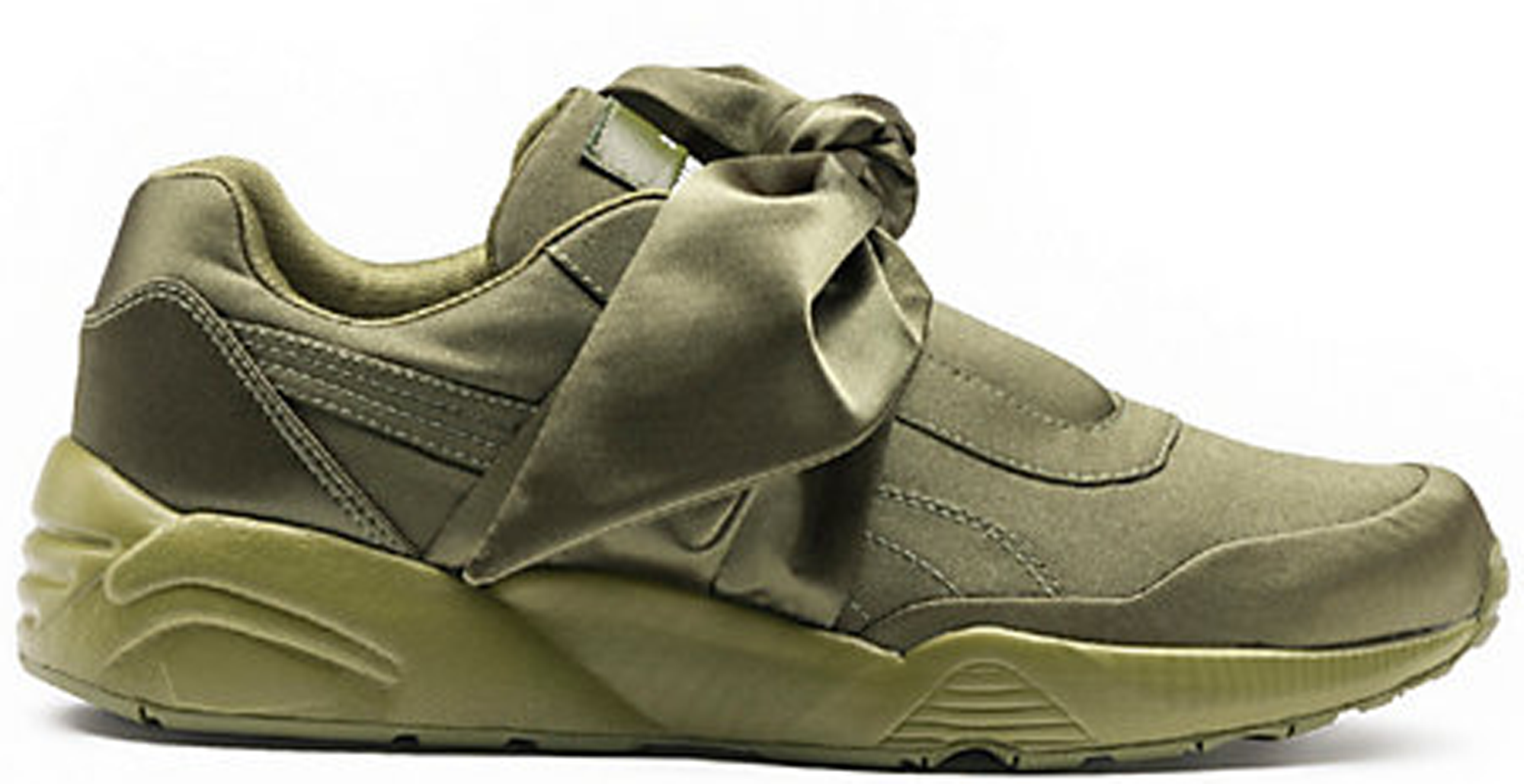puma fenty bow sneakers olive
