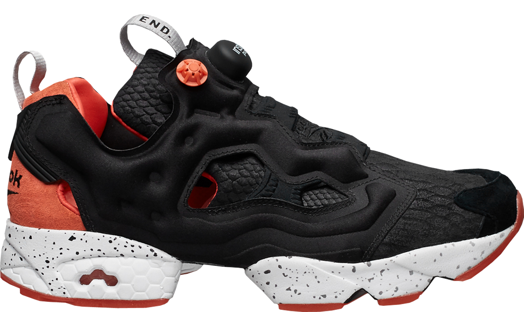 4e159b1c END x Reebok Instapump Fury Black Salmon - StockX News