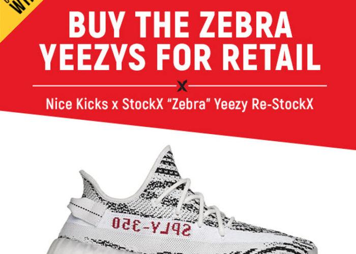 17cf6c10 Winner Announcement: Nice Kicks Zebra Yeezy Re-StockX