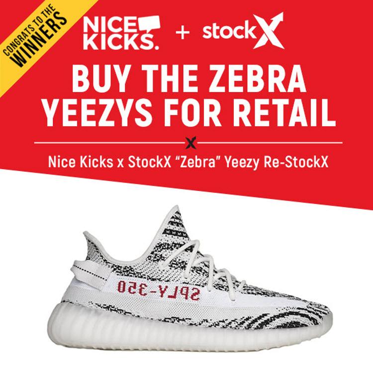 Nice Kicks Zebra Yeezy Re-StockX