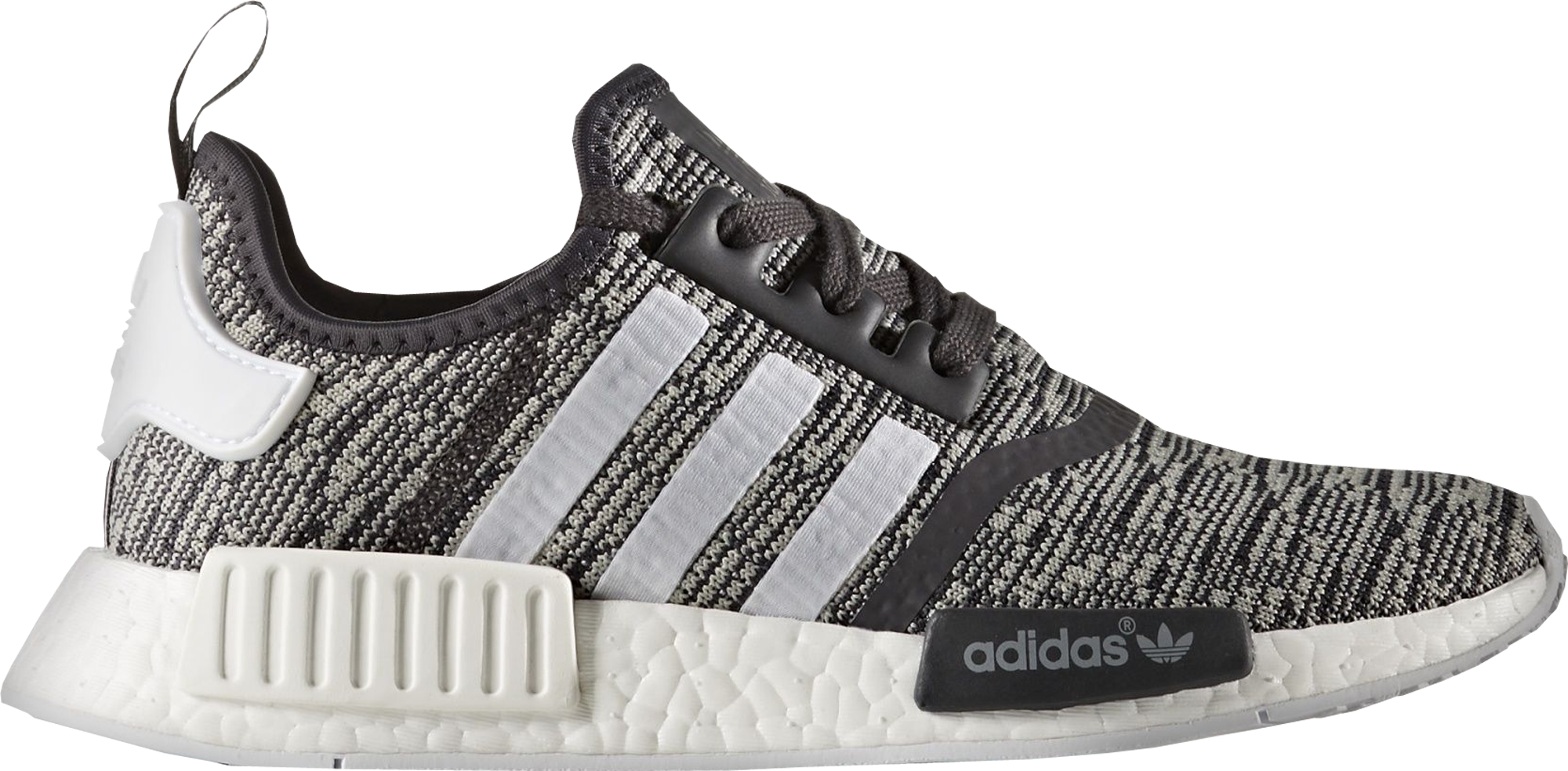 Adidas NMD R1 Glitch Camo Core Black Gray Red BB 2884