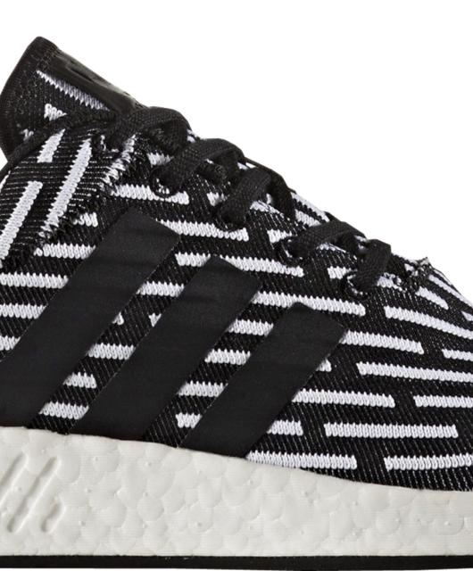 adidas NMD R2 Black White Primeknit Two-Toned