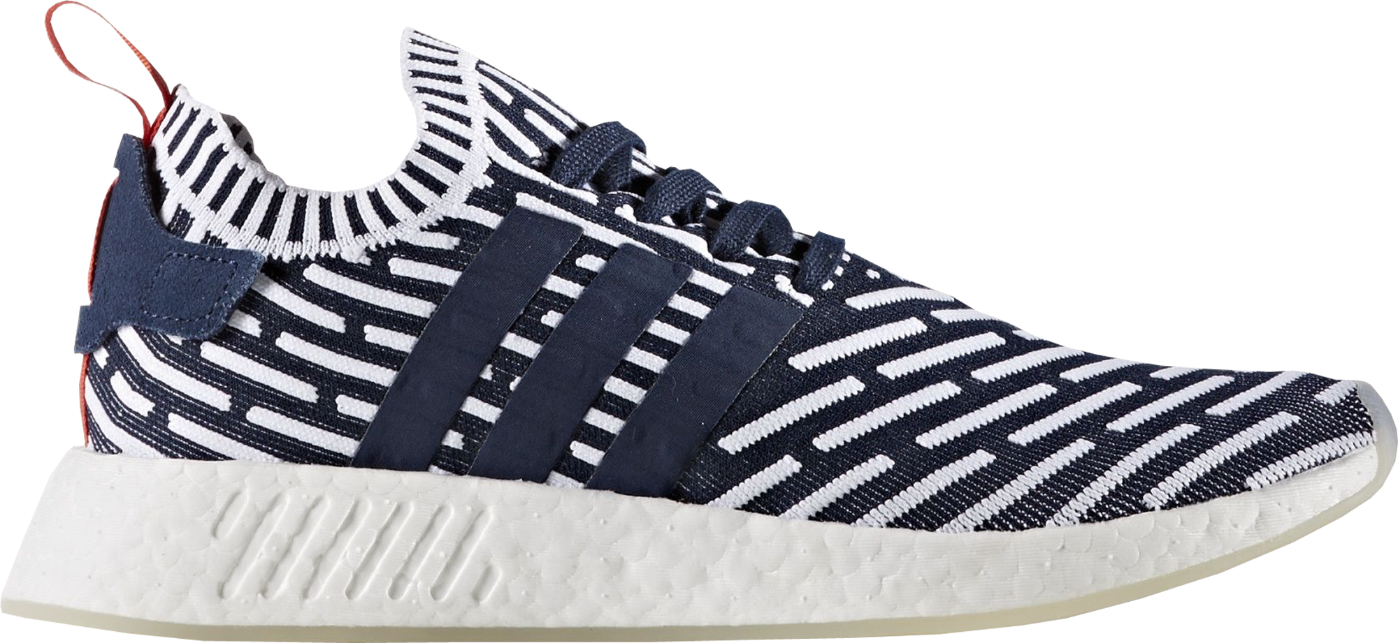 a180cd8aa adidas NMD R2 Navy White Primeknit Two-Toned