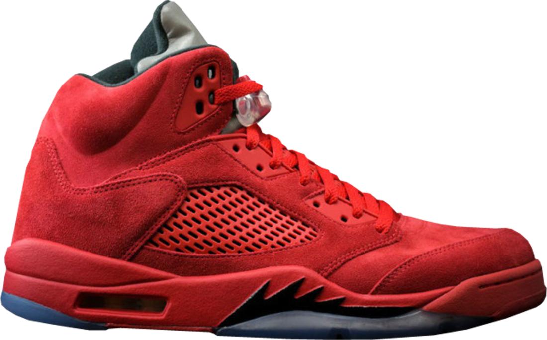 Air Jordan 5 Retro University Red Suede Flight Pack