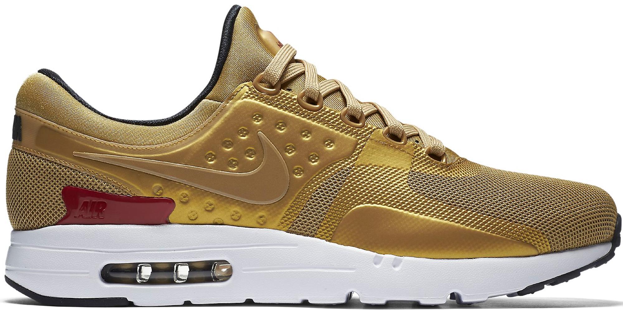 White Gold Mens Nike Air Max Zero Shoes