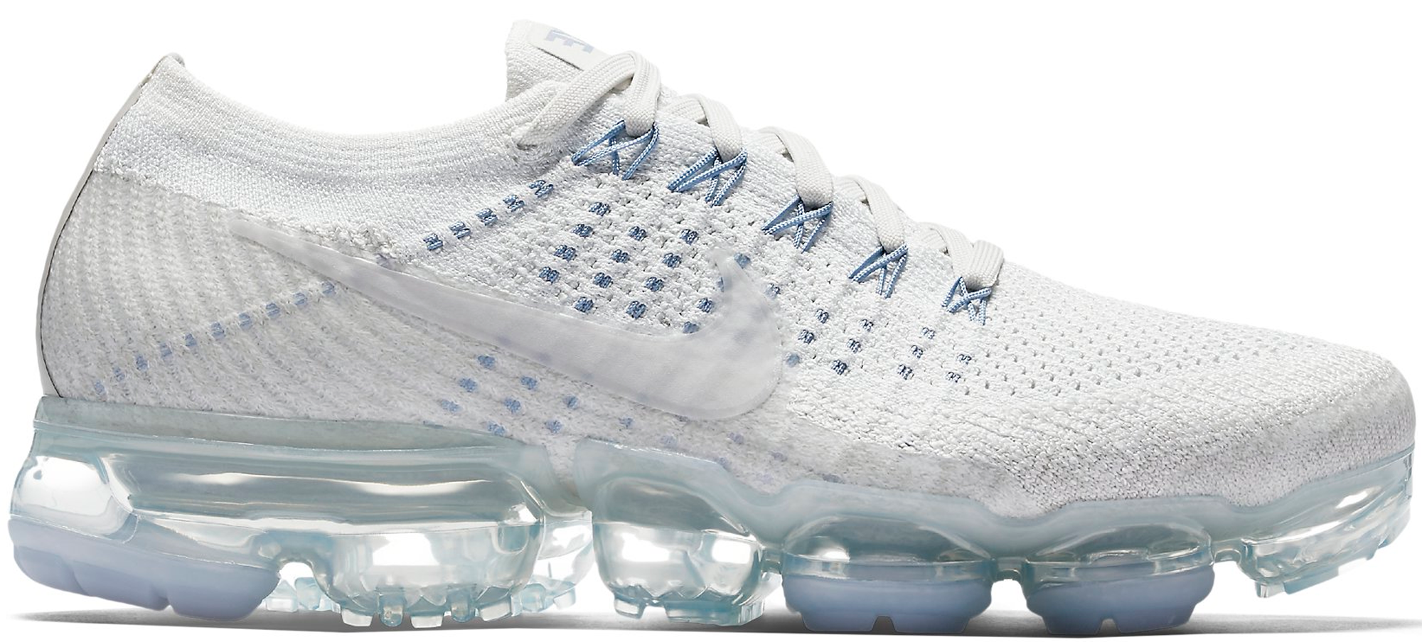 6b1c27a588451 Women s Nike Air VaporMax Pale Grey Black Sail Pure Platinum NikeLab Oreo  White Ice