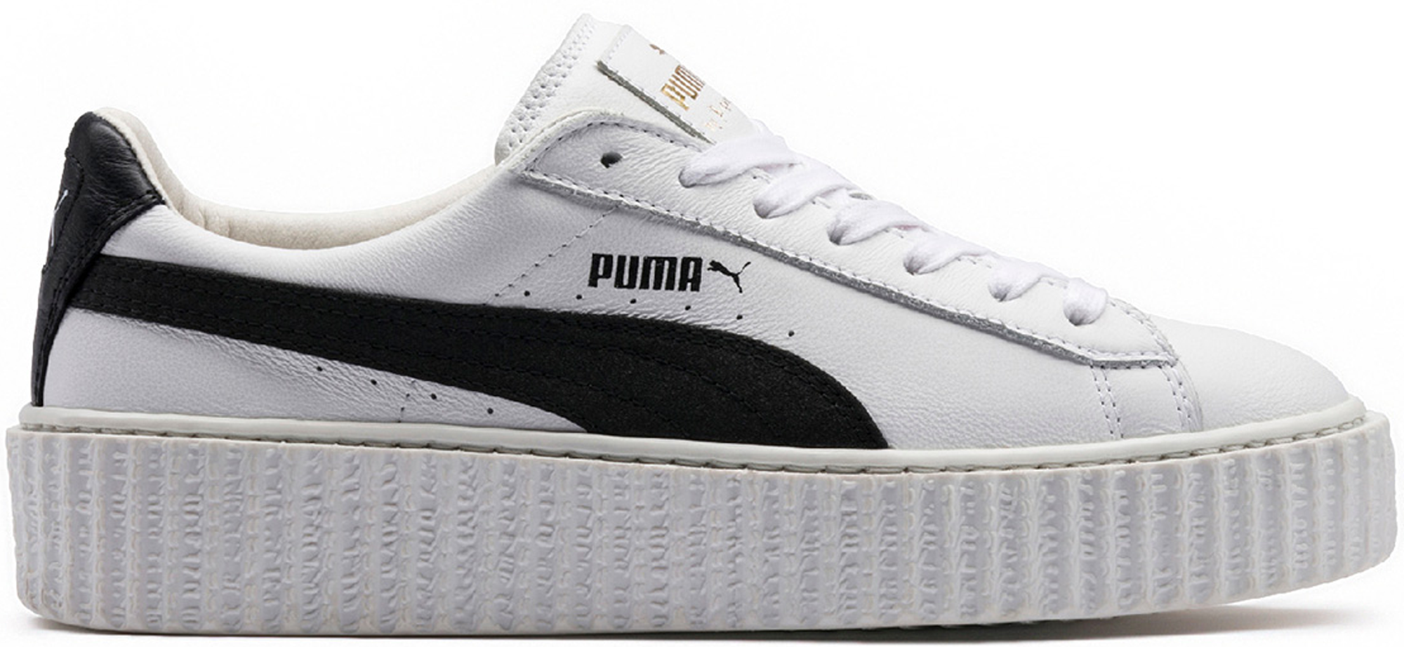 rihanna x puma creeper fenty leather white black stockx news. Black Bedroom Furniture Sets. Home Design Ideas