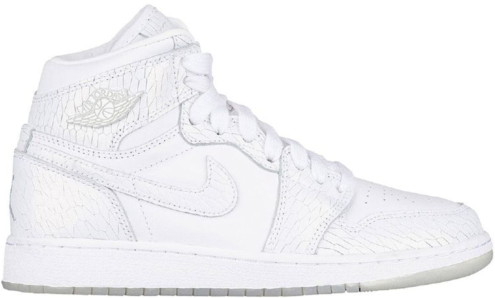 5f0a440c81a5 Girls Air Jordan 1 Retro High Premium HC GG White Pure Platinum GS Frost  White Heiress