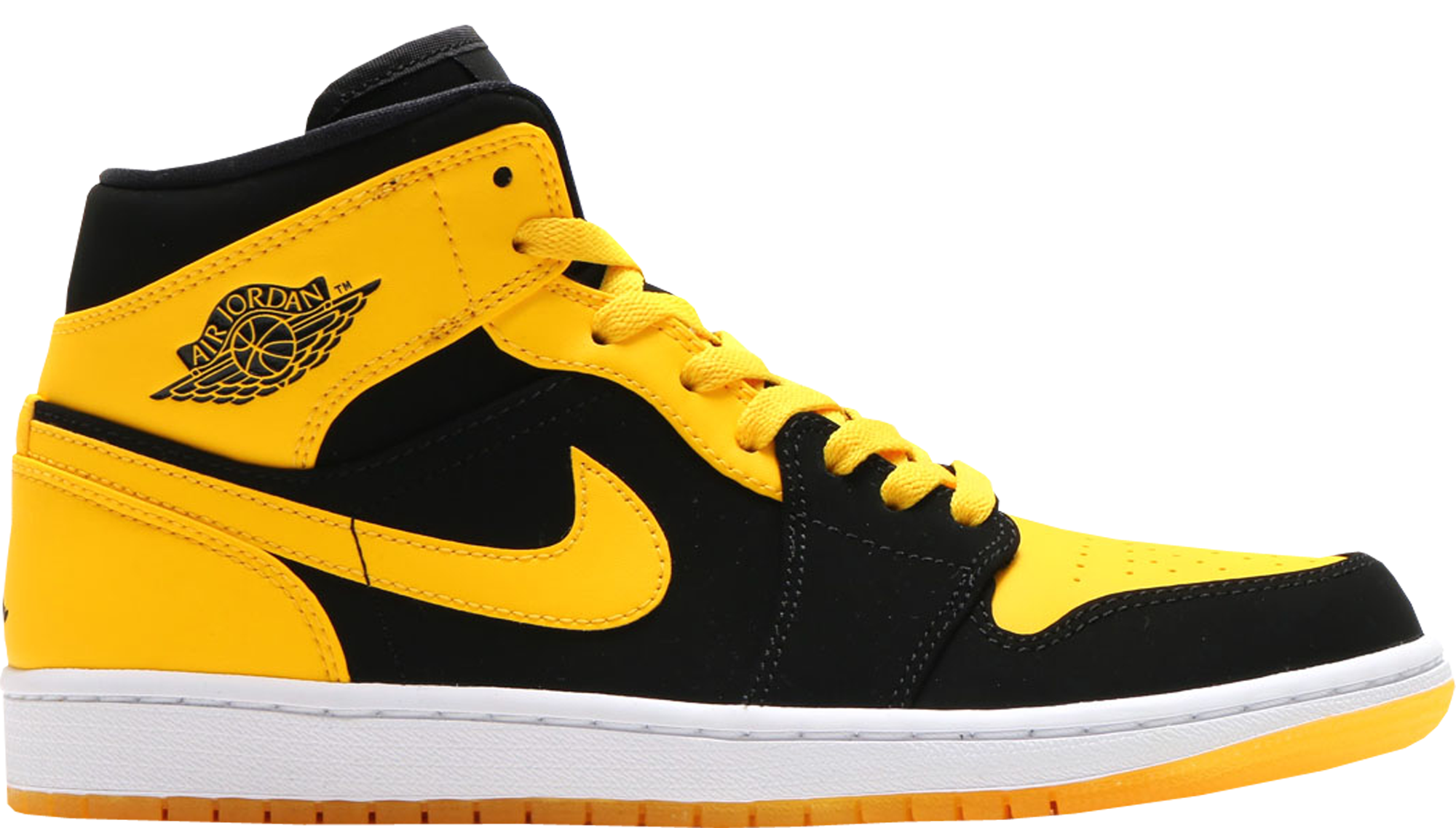 wholesale dealer bb04f a6b2a Air Jordan 1 Mid Black Varsity Maize New Love 2017 Retro