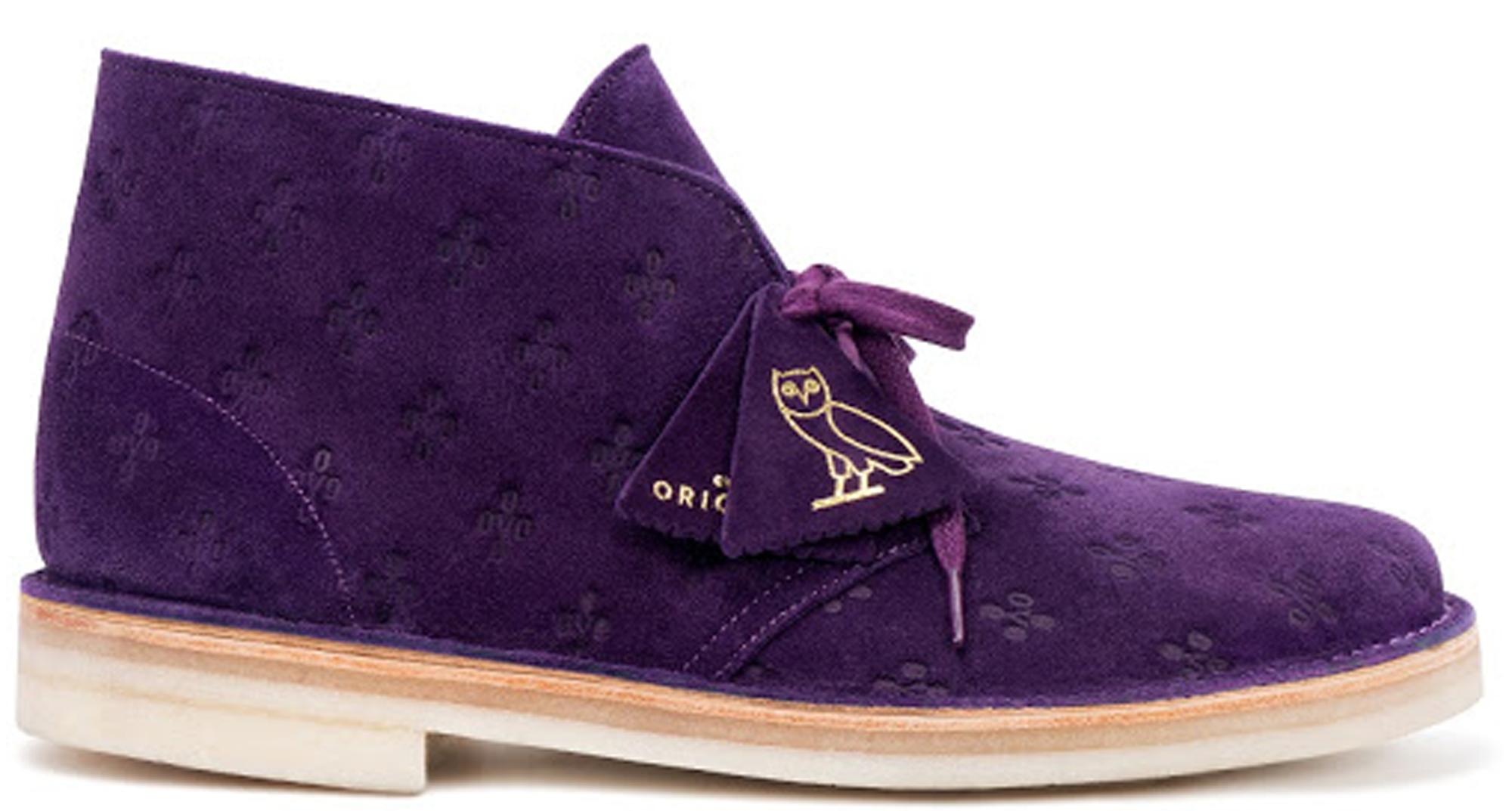 big sale 3c970 d0657 OVO x Clarks Originals Desert Boot Purple Drake Octobers Very Own